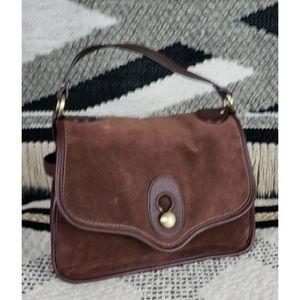 Nanette Lepore Suede & Pebble Leather Handbag